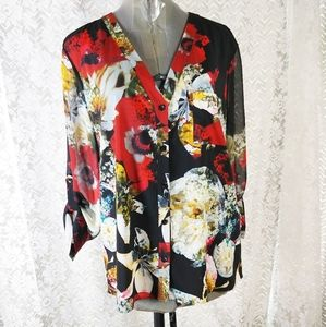 Alice + Olivia Beautifully Colored Blouse Medium
